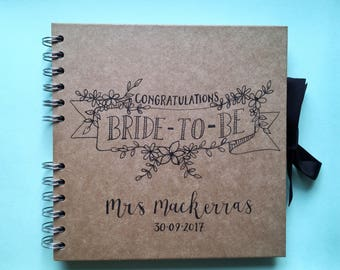 Personalised Hen Book, Hen Do Book, Hen Party Gift, Bridal Shower Book, Bridal Shower Gift, Gift For Bride, Book For Bride, Bride To Be Gift