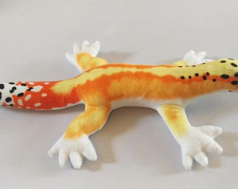 Leopard Gecko Plush / Realistic Markings / Red Stripe Morph