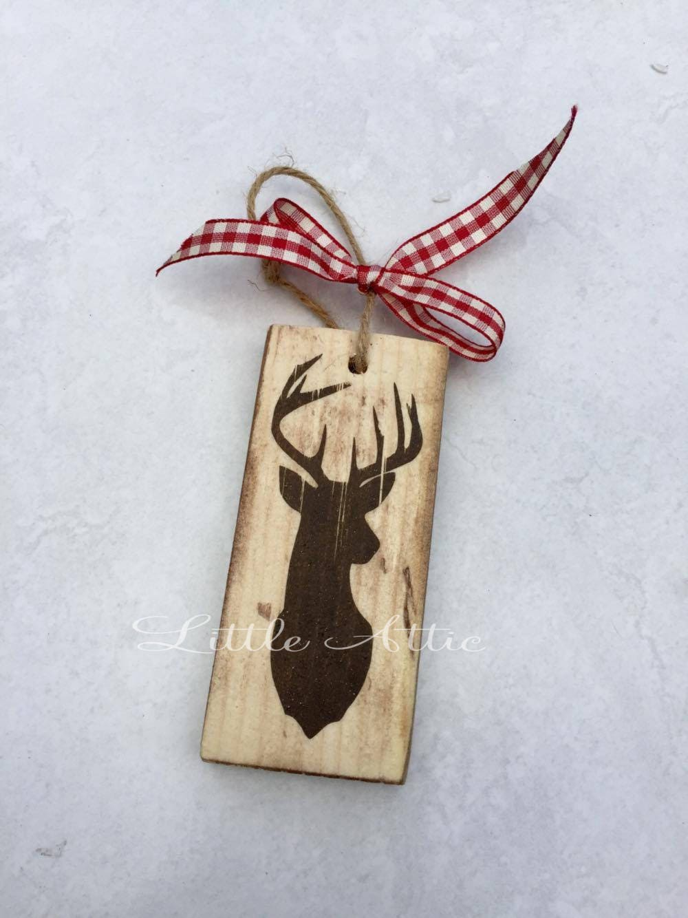 Stag Christmas Tree Decorations Wooden Christmas Tree