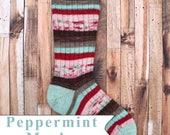 PRE-ORDER --  Peppermint Mocha - Self Striping - Fingering