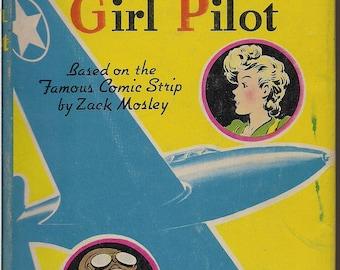 SMILIN' JACK and the Daredevil Girl Pilot, Scarce Dust Jacket, TV Radio Movie Aviation Hero, Original Comic Strip