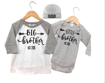 Big Brother Announcement Shirt, Pregnancy Announcement Shirt, Big Brother Little Brother Outfits, Grey and White Raglan Big Brother Shirt,