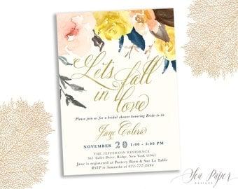 fall bridal shower invitation letu0027s fall in love autumn bridal shower invite harvest
