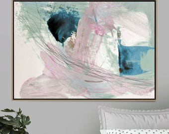 Large Abstract painting, 24x36 Art, Printable Abstract Art, Digital Download Art, Pink Art, Pink and green, Bedroom Art, A0 Art, Dan Hobday