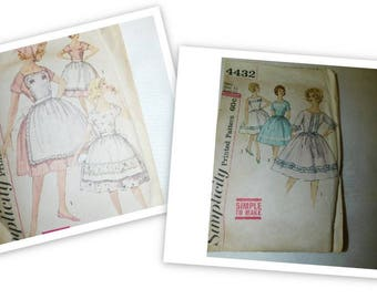 "Pair Vintage 50s Simplicity Patterns  Simplicity 4432 Simplicity 3778 Vintage Size 12/ 32"" Chest"
