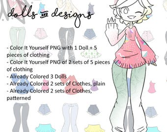 Print & Color Paper Doll!