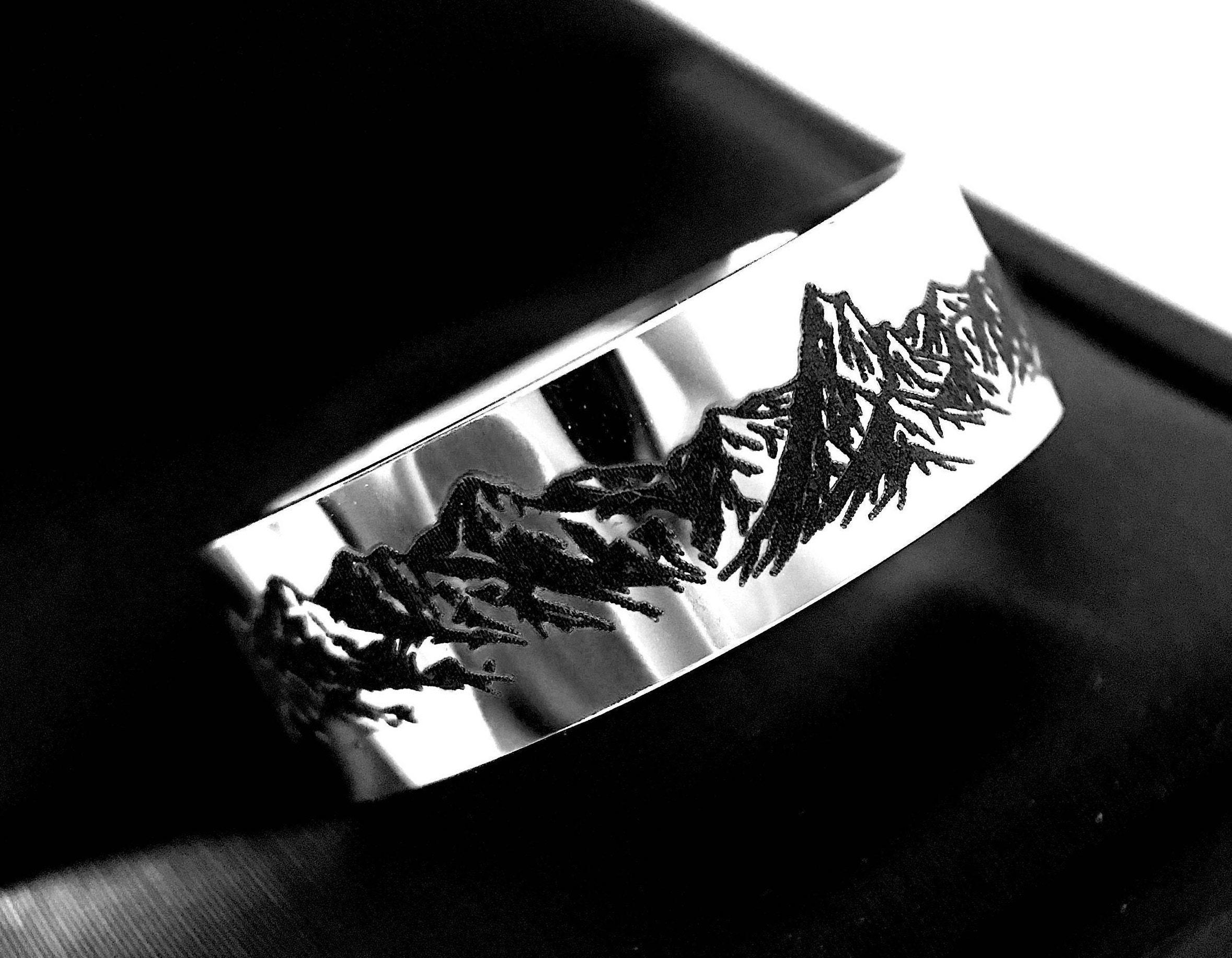 tungsten wedding bands mountains ring mountains range ring