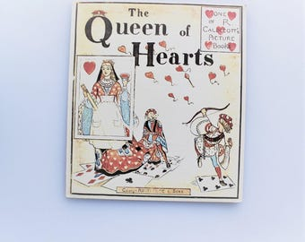 Queen of Hearts, Rutherford Reproduction, Randolph Caldecott Illustrations, Craft Book, Love Book