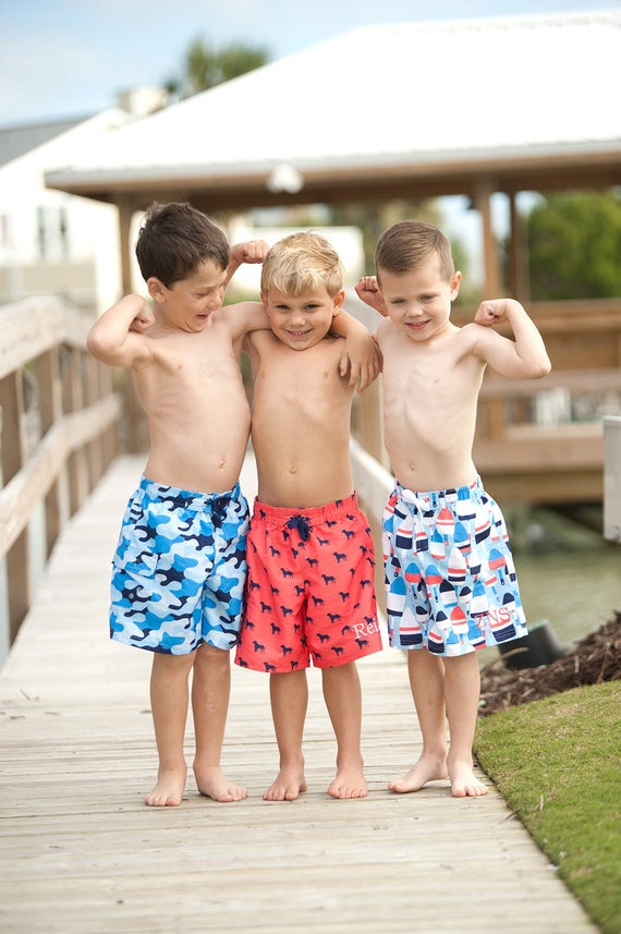 Boys Swim Shorts Kids Swimwear Swim Trunks Monogrammed Swimsuits Personalized Board Shorts Summer Apparel Embroidered Swimsuits for Boys