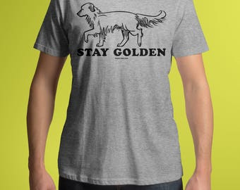 Stay Golden, Golden Retriever Shirt, Funny Dog Tee, Shirts With Sayings, Unisex Hipster T-Shirt, Retriever Tee, Gifts For Him, Gifts For Her