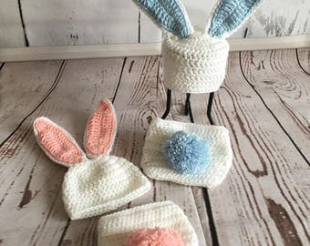 Bunny Costume - Baby Easter Outfit - Bunny Photo Prop - Baby Photo Prop - Bunny Outfit - Easter Photo Prop - Baby Bunny Costume - Easter