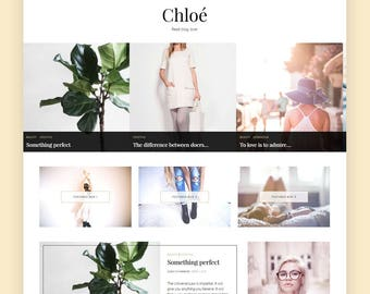 WordPress Blog Theme - Chloe | WordPress Theme, WordPress Template, WordPress Feminine Blog Theme, WordPress Travel, WordPress Fashion Blog