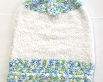 Cloud Soft Baby Bunting Bag, Hand Knit Infant Sleeping Bag, Baby Shower Gift, TwoSistersGreetings