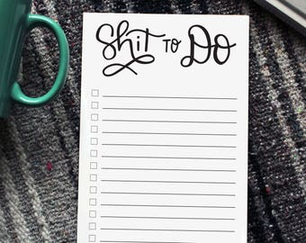 Shit To Do Notepad | To Do Notepads, Checklist, Notepads, Notebook, To-Do List, To-Do Notepad, Note Pad
