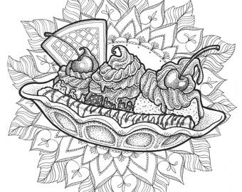 Illustration // Banana Split
