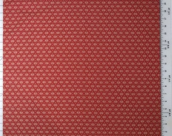Japanese cotton furoshiki cloth -red and off white asanoha hemp leaf