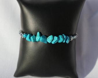 Turquoise stacking bracelet/14cm/5.5inch