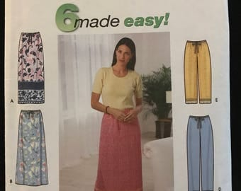 Simplicity 9139 - Easy to Sew Bottoms with Skirts, Pants and Shorts - Size XS S M L XL