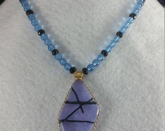 Purple,Blue and Black Necklace