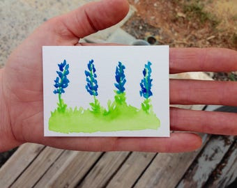 Custom Flower Painting, State flower Painting, Artist Trading Card, Watercolor Flower Painting, Mini Flower Painting, Simple Watercolor Art