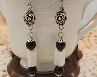 Marble Bead and Rose  EE-116