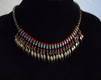 Vintage Ethnic Style Necklace,Colorful Necklace