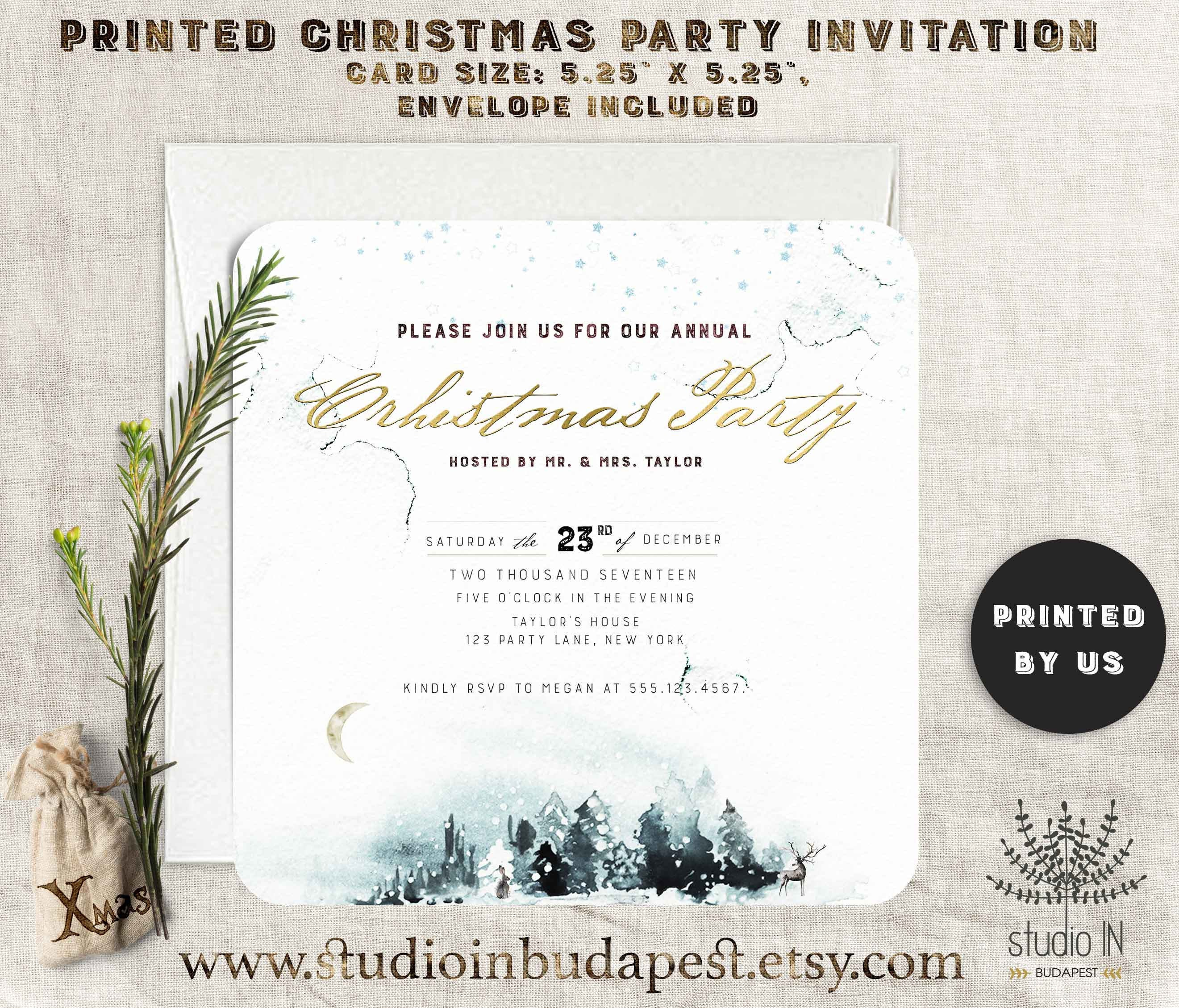 Christmas Dinner invitation Christmas Party Invitation