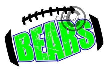 Bears Svg, Bear Football Svg, Bear Dxf, Dxf For Silhouette
