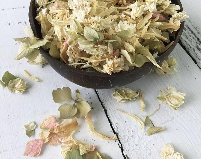 Natural Flower Petal Confetti / Biodegradable / Dye Free / Petal Blend A