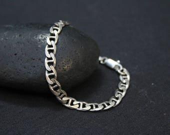Sterling Silver Textured Gucci Link Bracelet, Sterling Gucci Bracelet, Gucci Link, Sterling Silver Textured Link Bracelet