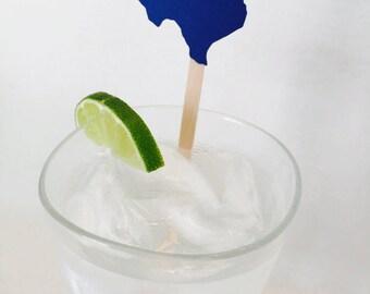 15 State Swizzle Sticks - Texas - Drink Stir Sticks - Housewarming - New House - Going Away Party - Celebration - New Job - New State