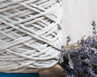 Licht grau String Baumwollkordel / 5mm / Baumwolle Seil / Makramee Seil / Diy Makramee / Super weicher Baumwollseil / weben Seil / Makramee