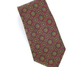 Giorgio Armani Cravatte vintage printed silk foulard neck tie, made in Italy