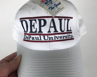 Depaul University Vintage 90s snapback hat cap deadstock new with tags blue demons the game