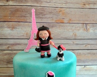 Paris Themed Cake Decorating Kit (100% Edible)
