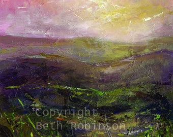 greetings card: early morning glow. Beth Robinson Art