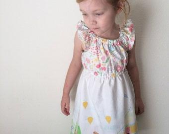 Summer Dreams Peasant Dress, Michael Miller Sommer Floral