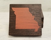 Pick State, Pick Color, Missouri Wood Coasters, Set of 4, Wedding, Housewarming