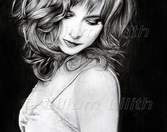 Poster of Mylène Farmer (Reproduction of the design)