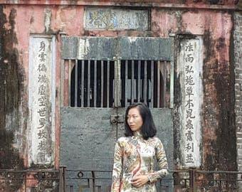Ao dai. Elegant Vietnamese dress.
