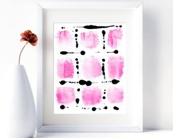 Pink Watercolor Print Pink Abstract Art Abstract Watercolor Painting Pink Poster Modern Watercolor Pink Artwork