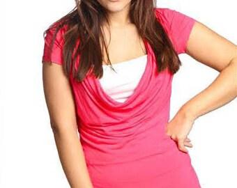 Classic Breastfeeding Shirt   Summer Nursing Shirt   Short Sleeve Nursing Top   Pink Breastfeeding Top   Gift For New Mom   Gift Under 30