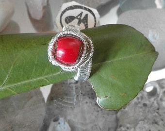 ring with coral root (BAMBU)