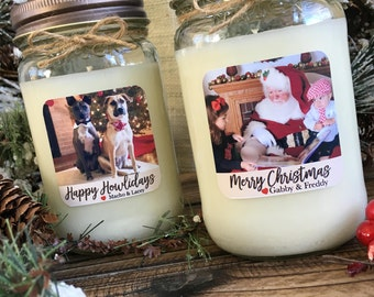 Personalized Photo Candle | Soy Candle Gift | Picture Candle |  Christmas Gift | Custom  Gift