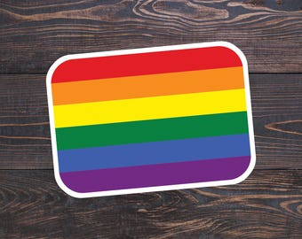 LGBT Flag Sticker, Gay Sticker, LGBT Pride Stickers, Gay Laptop Sticker, Rainbow Flag, Equality Stickers, LGBT Gifts, Queer, Gay Flag Gift