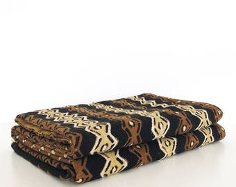 XXL Mudcloth bedcover | Brown pattern mudcloth duvet cover | Mudcloth comforter | African mudcloth bedspread | Mudcloth fabric