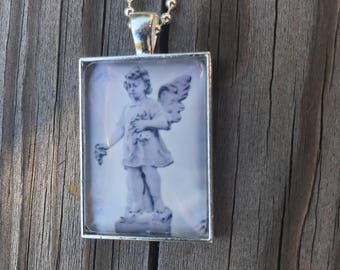 Angel Necklace, Cemetery Art Necklace
