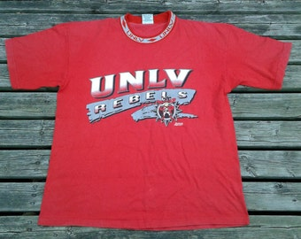 Vintage 80's / 90's UNLV Runnin' Rebels t-shirt Made in USA XL