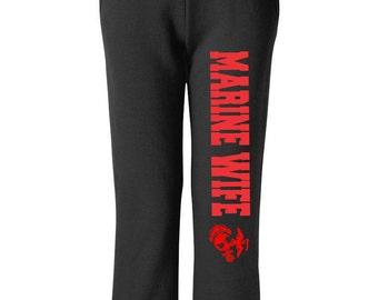 Marine Wife Sweatpants,Military Sweats ,Black Pants,Workout Pants, Sweats,Wife Gift ,Marine Wife Pants, Marines Wife, Deployment Gift, Wifey