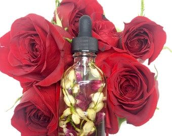 ROSE BODY OIL/Vegan Massage Oil/Hydrating Oil/Organic Massage Oil/Cruelty Free Oil/Self Care Gift/Ananda Botanicals